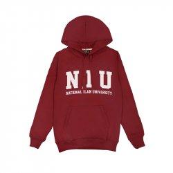 【宜大合作社獨售】NIU經典款長袖連帽T恤(男女適穿)_酒紅
